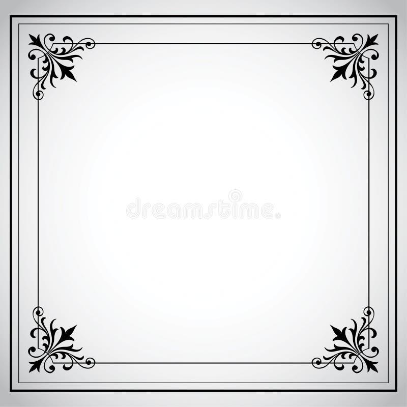 Serie ornamentale del blocco per grafici dell'annata illustrazione vettoriale