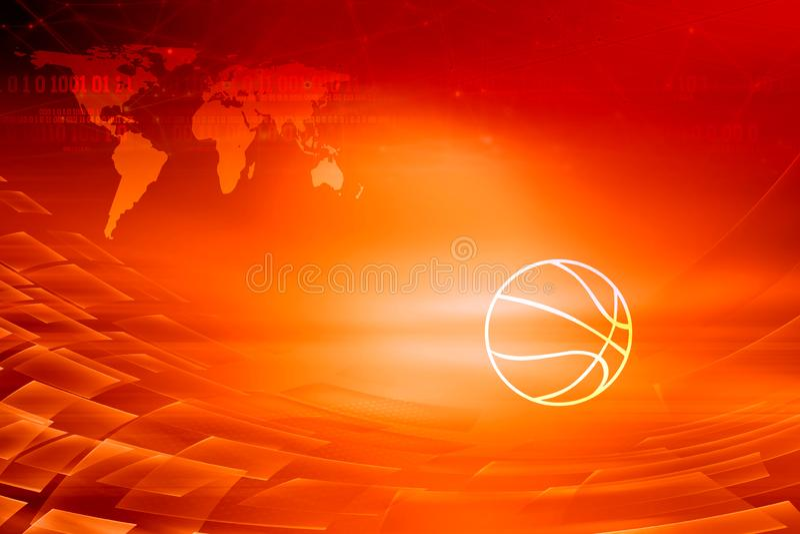 Serie roja del concepto del fondo del tema de las noticias digitales gráficas del deporte imagen de archivo