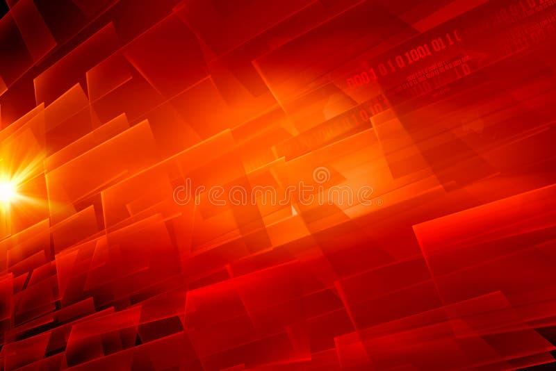 Serie rossa digitale di concetto del fondo di tema dell'estratto grafico illustrazione vettoriale