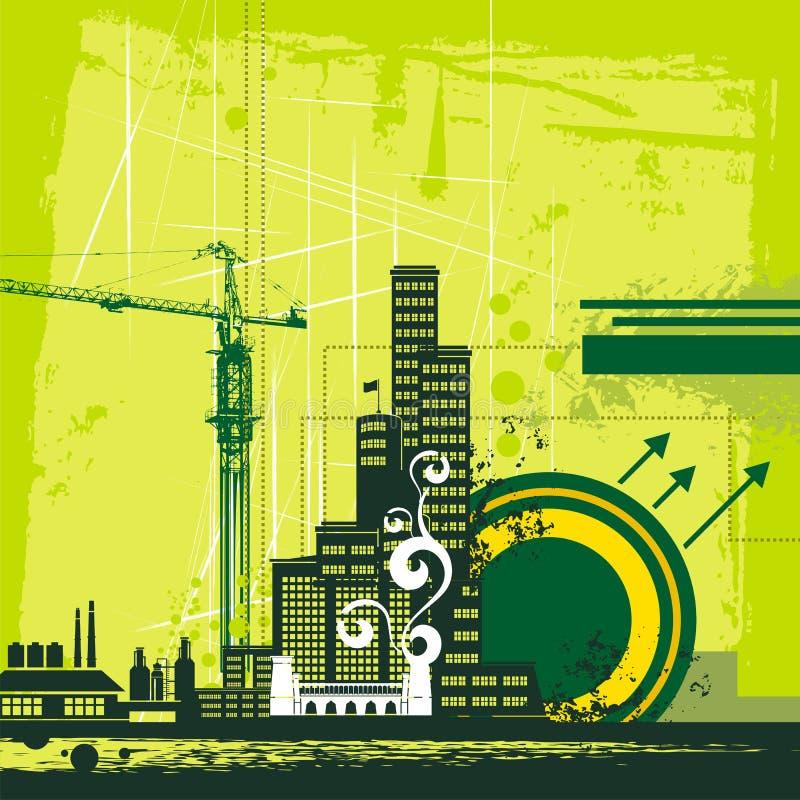 Serie urbana del fondo libre illustration