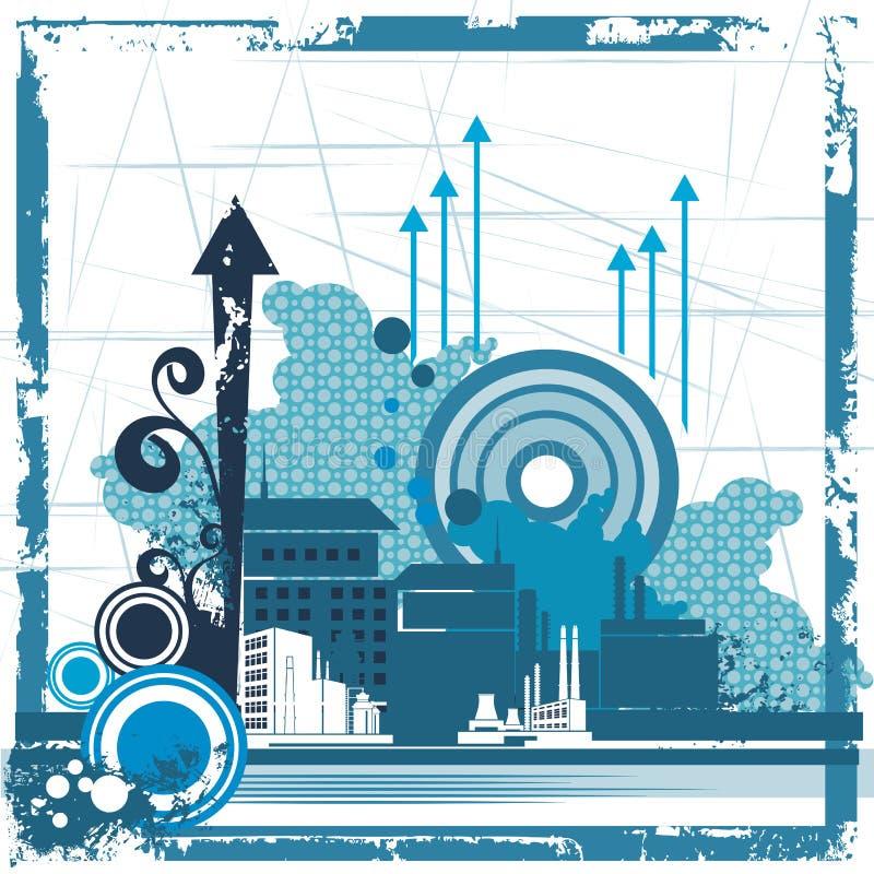 Serie urbana del fondo ilustración del vector
