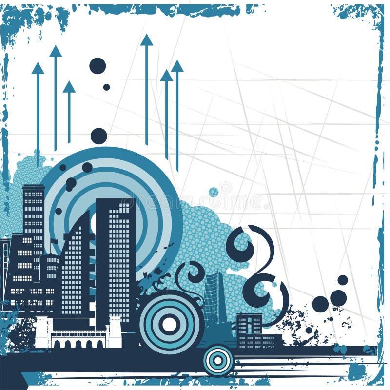 Serie urbana della priorità bassa royalty illustrazione gratis