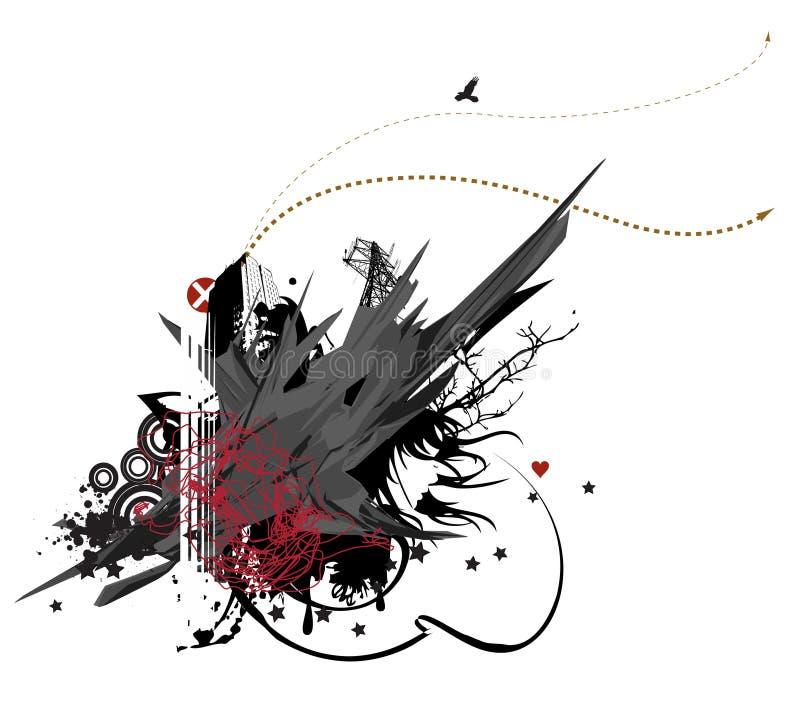 Serie urbana No.4 de Grunge stock de ilustración