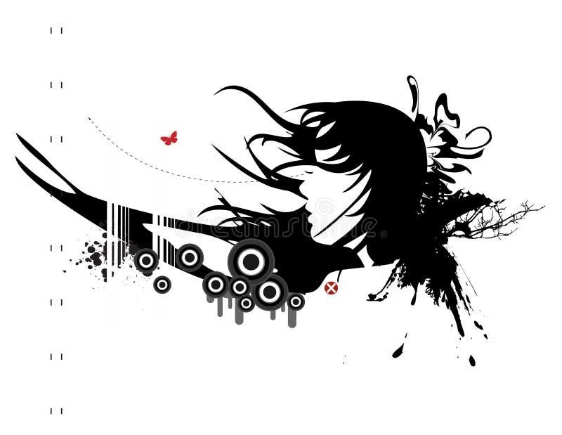 Serie urbana No.5 de Grunge stock de ilustración