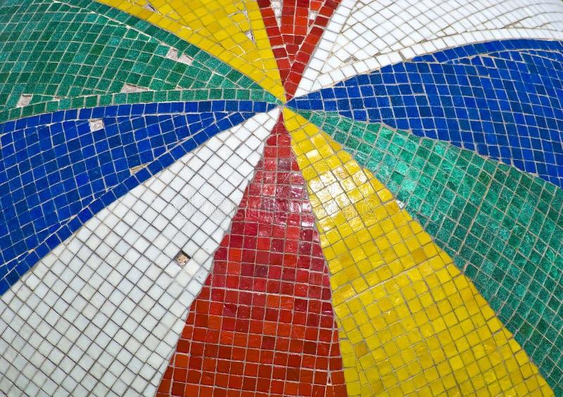 Serie van Gekleurde Tegels met Stukken het Missen stock afbeeldingen