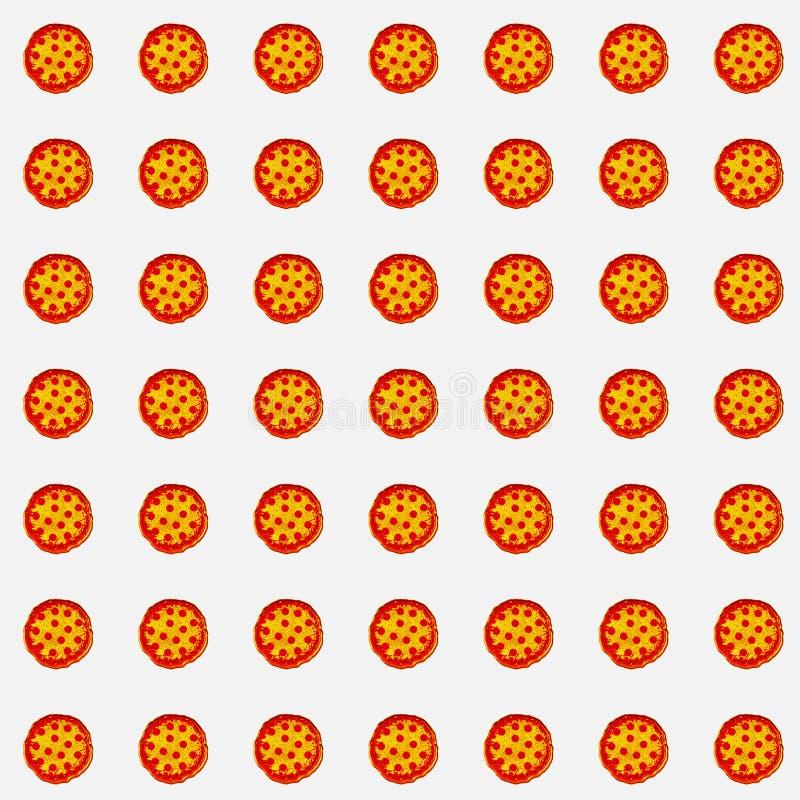 Serie van pizza's op witte achtergrond voor giftkaart, productreclame, of Webgrafiek royalty-vrije stock fotografie