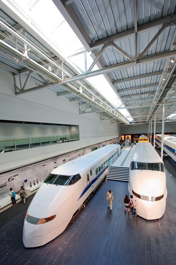 Serien-Museum Japan-Shinkansen stockbild