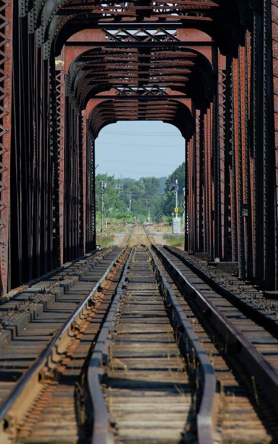 Serienbrücke auf riviere DES mille iles, Kanada 3 lizenzfreies stockfoto