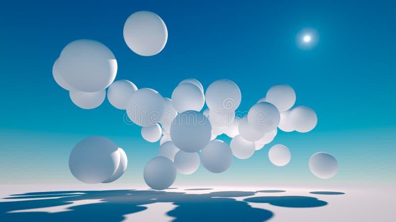 Floating Spheres royalty free illustration