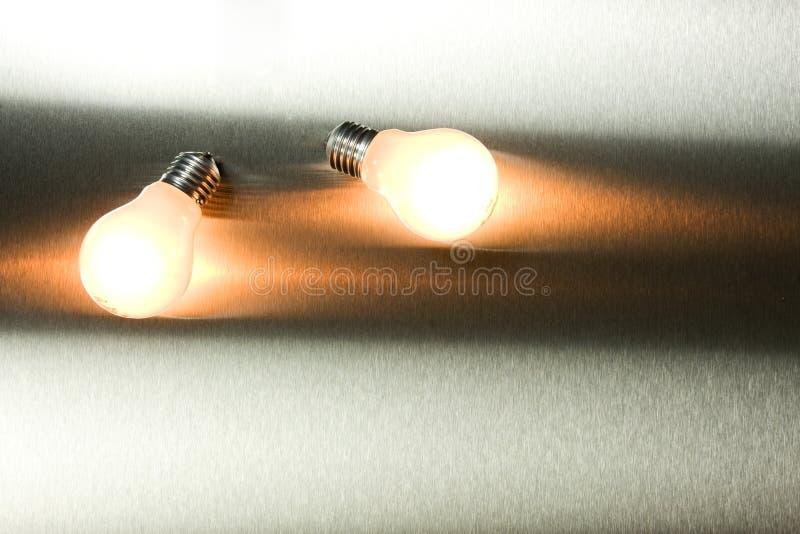 Series Of Lightbulbs Stock Photo