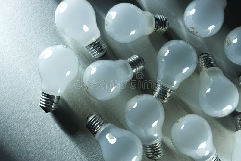 Download Series of lightbulbs stock photo. Image of generation - 5401320