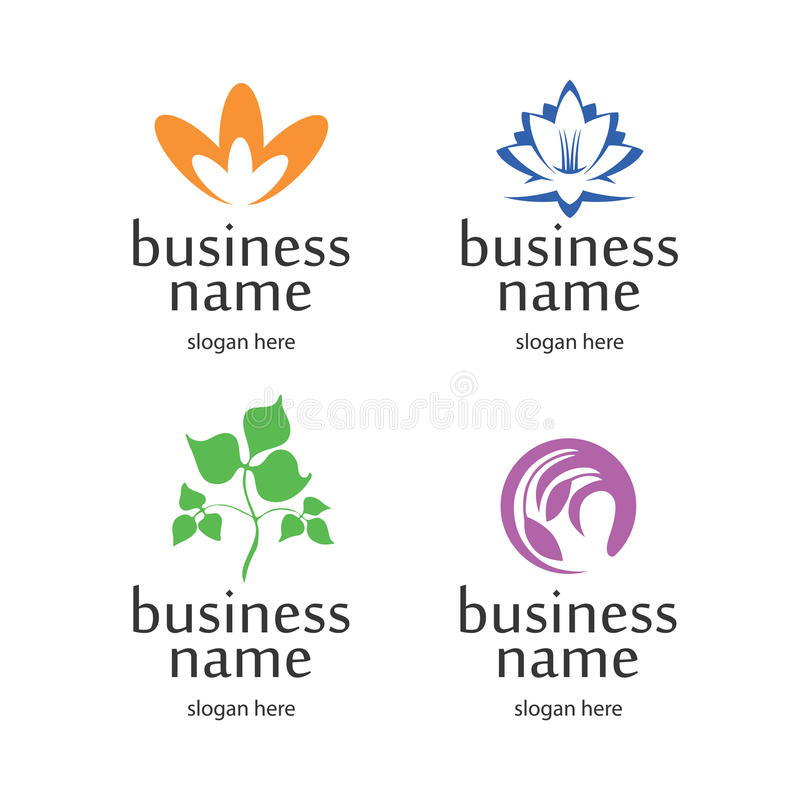 Logo With Floral Elements Stock Photography