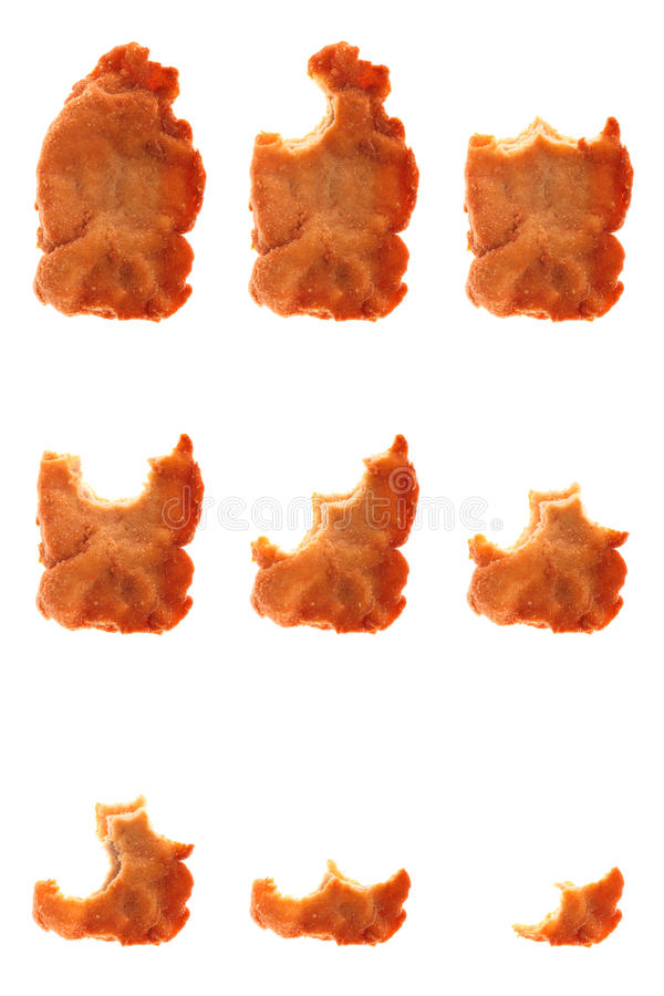 Free Series Of Whole And Bitten Fried Wiener Schnitzel Stock Photos - 10570233