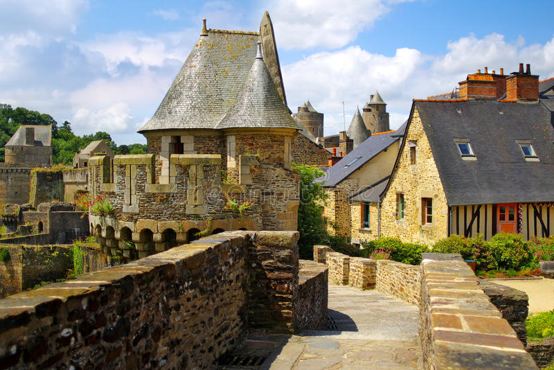 Series of photos with Castles, France royalty free stock images