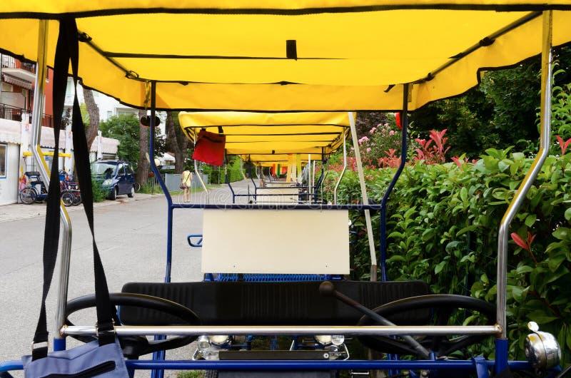Series of rickshaw stock image