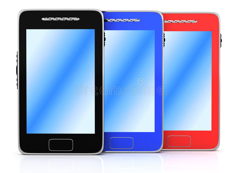 Series Of Smartphones Royalty Free Stock Photos