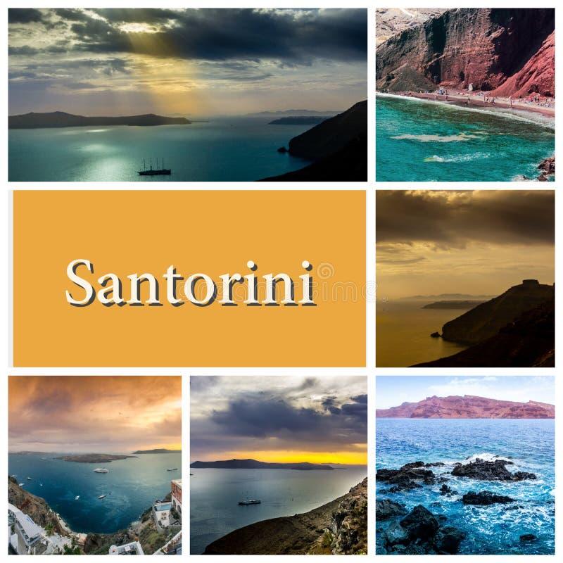 A series of summer photos in Santorini island, Greece royalty free stock photo