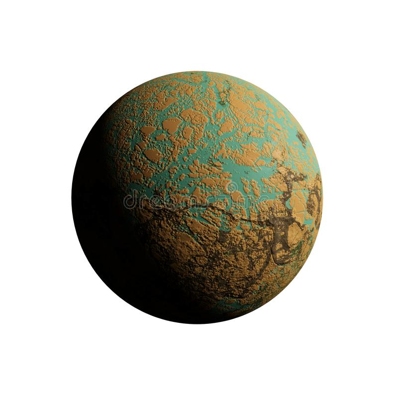 A series of unknown planets on an isolated background stock images