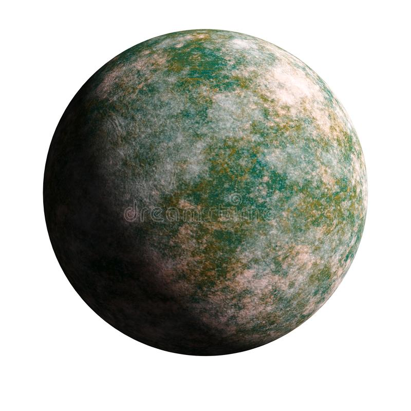 A series of unknown planets on an isolated background stock image