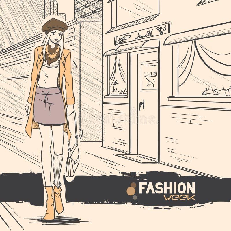 Series Urban Fashion. Autumn, Winter. Royalty Free Stock Image