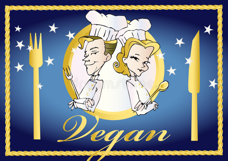 Download Serieveganvegetarian stock illustrationer. Illustration av cartoon - 3543839
