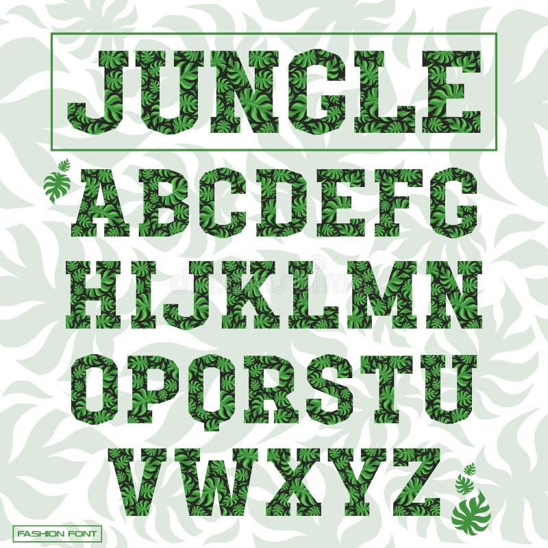 Serif decoratieve doopvont vector illustratie