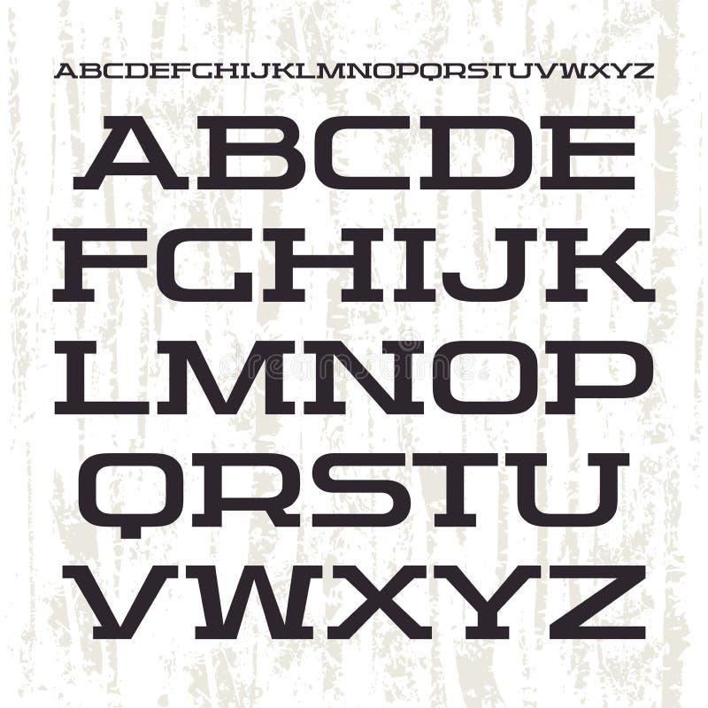 Serifguß in der Retro- laufenden Art lizenzfreie abbildung