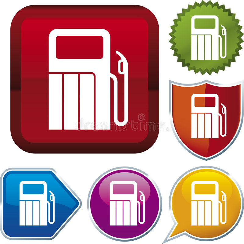 serii ikon stacja benzynowa ilustracja wektor