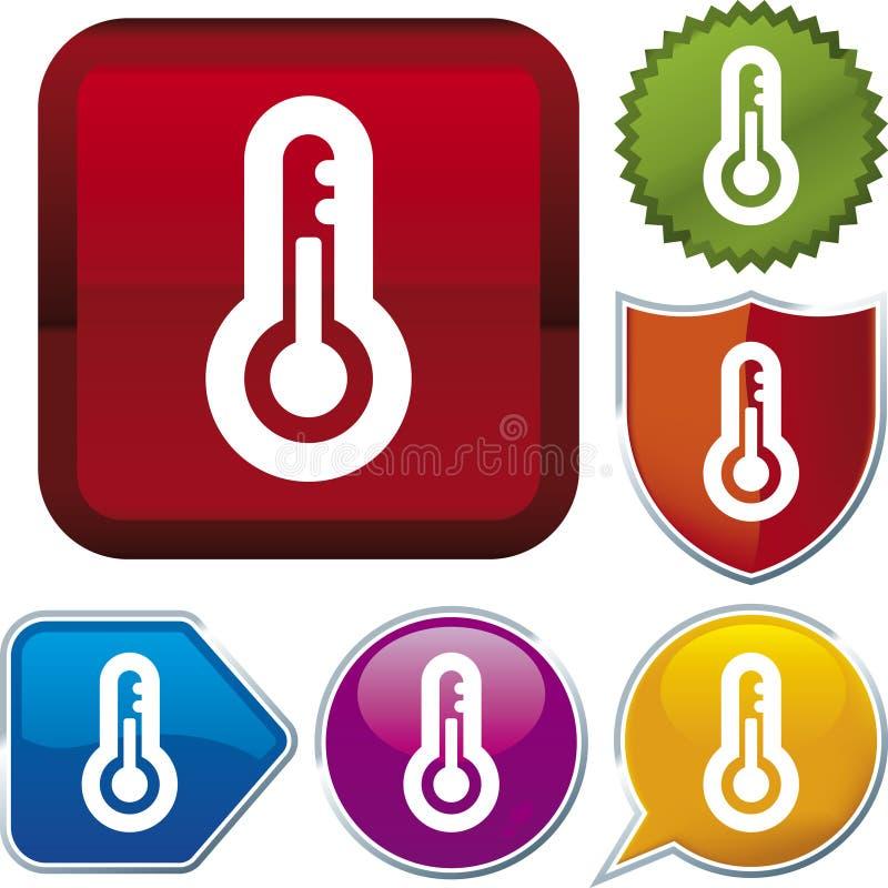 serii ikon termometr royalty ilustracja