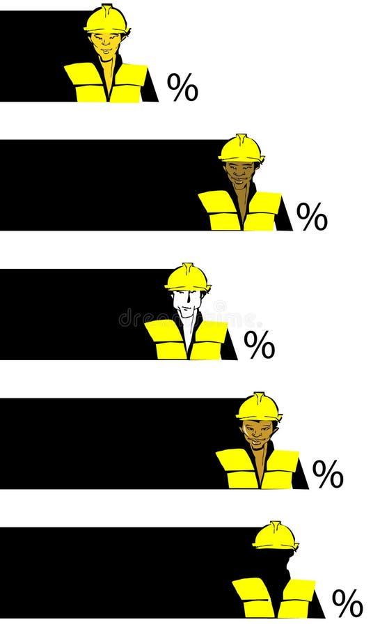serii konstrukcyjne pracę pracownika royalty ilustracja