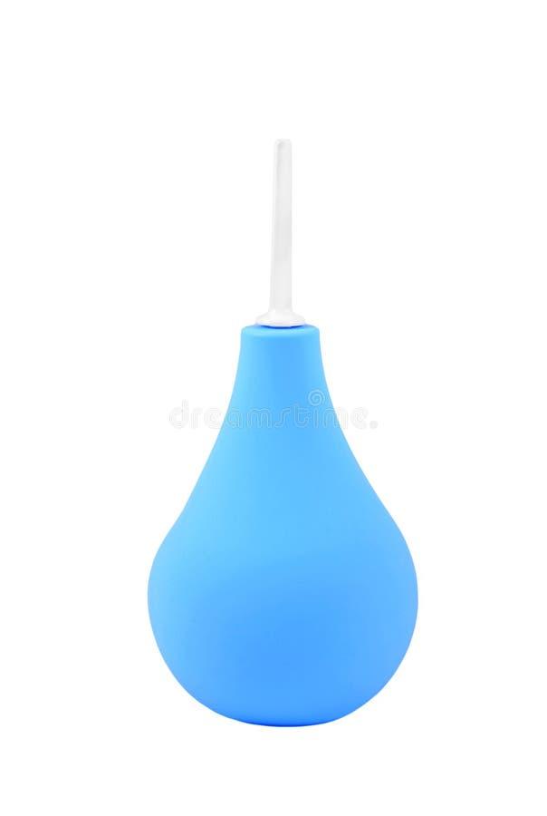 Seringue bleue d'enema image stock