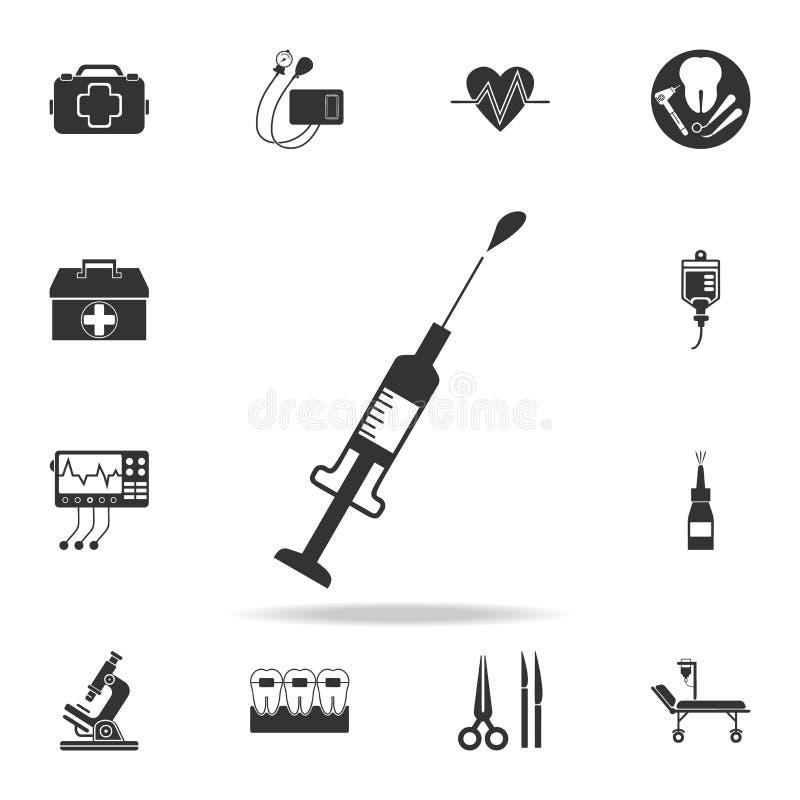 Seringue et icône de baisse Ensemble détaillé d'illustration d'élément de médecine Conception graphique de qualité de la meilleur illustration stock