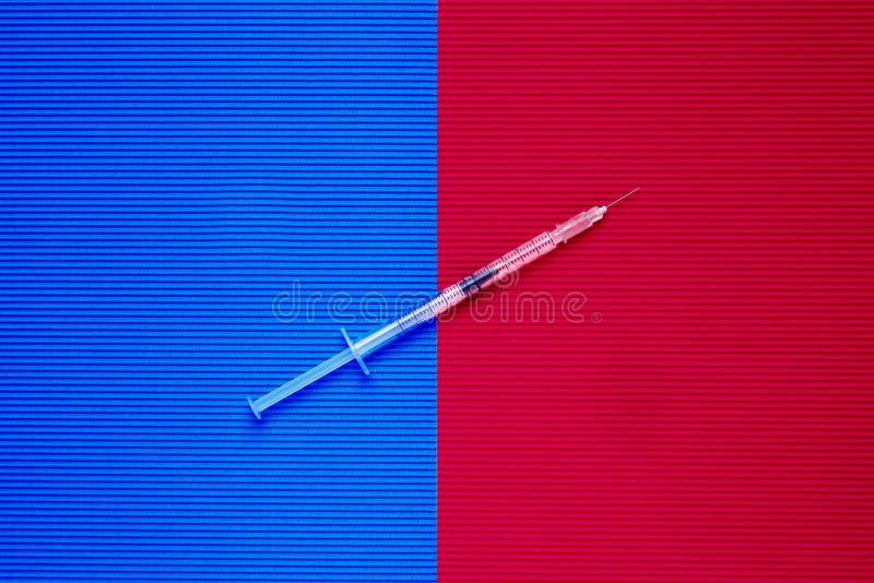 Seringue pour l'insuline photographie stock