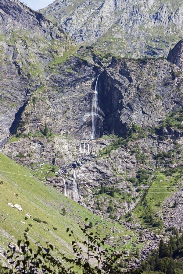 Serio-Wasserfälle, Valbondione, Bergamo, Lombardei stockbild