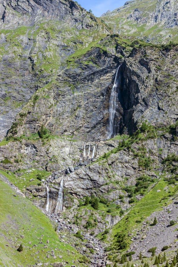 Serio waterfalls, Valbondione, Bergamo, Lombardy. Serio waterfalls, Valbondione, in the upper Seriana Valley, on the Orobie Alps, Bergamo, Lombardy royalty free stock image