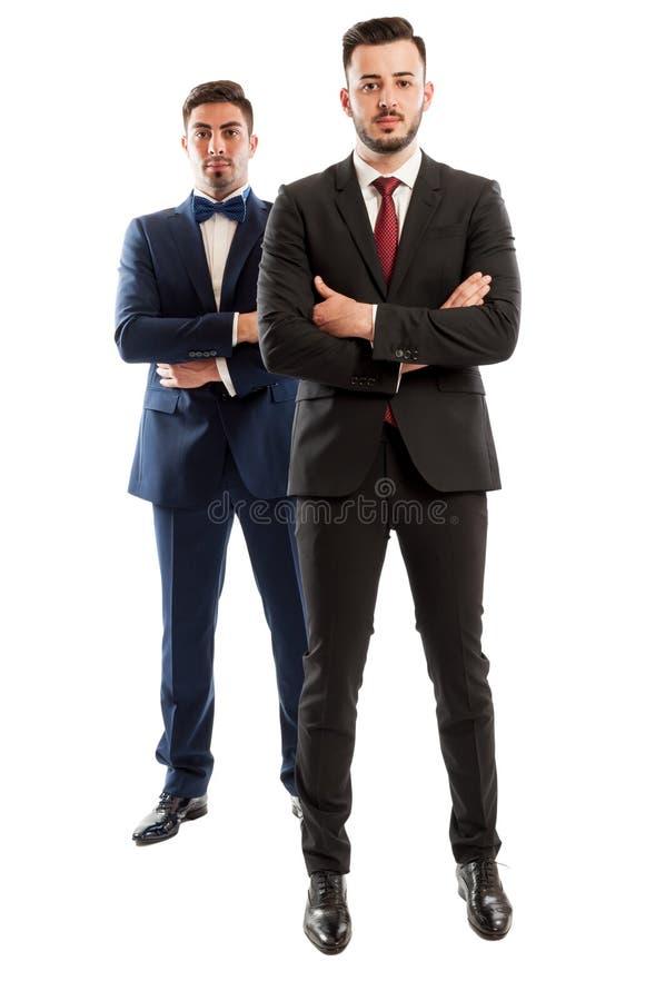 Serios和确信的商人 免版税库存照片