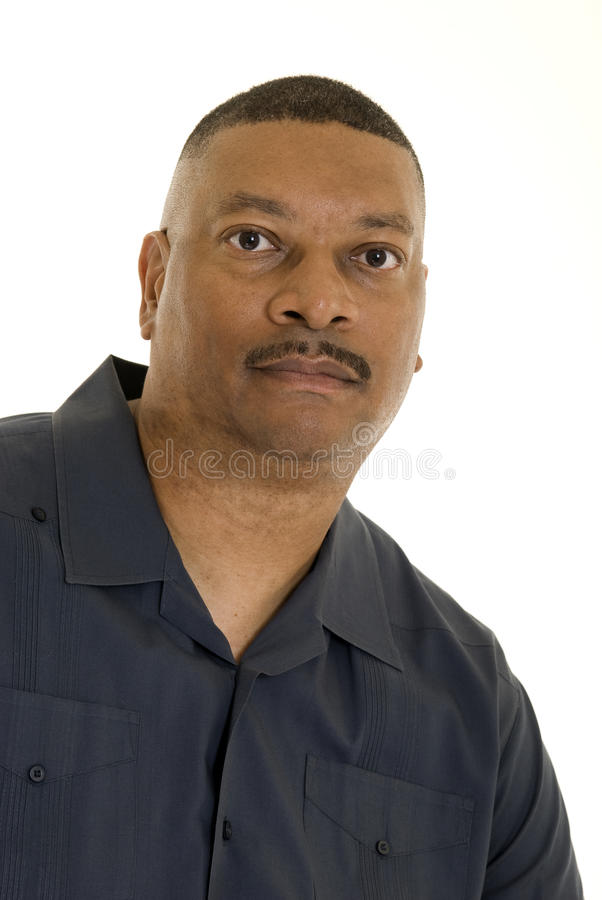 Serious African American man stock photography