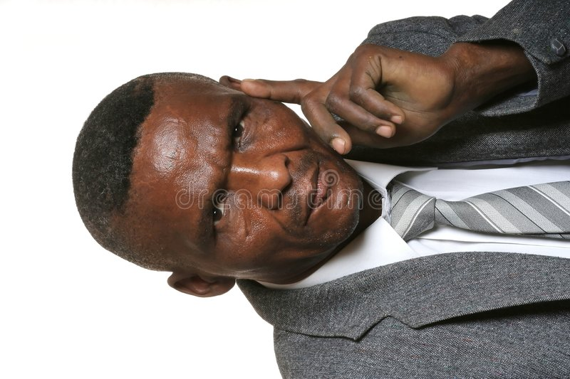 Serious African Business Man royalty free stock image
