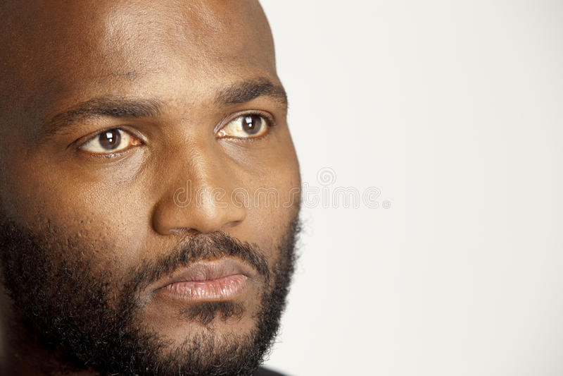 Serious African Man stock photography