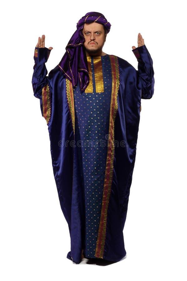 Serious Arabist royalty free stock photos