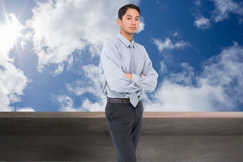 Serious asian businessman stock image