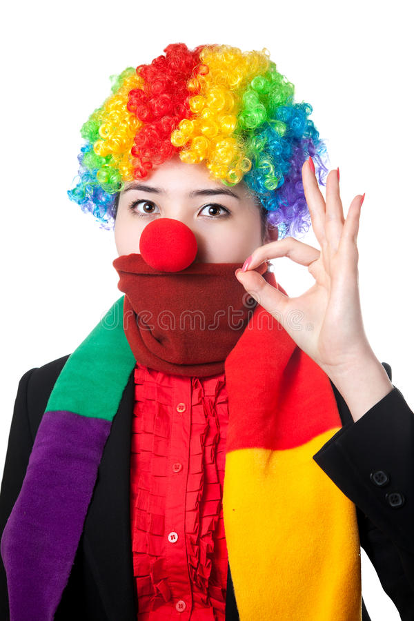 Download Serious Asian clown stock image. Image of cough, cold - 18665951