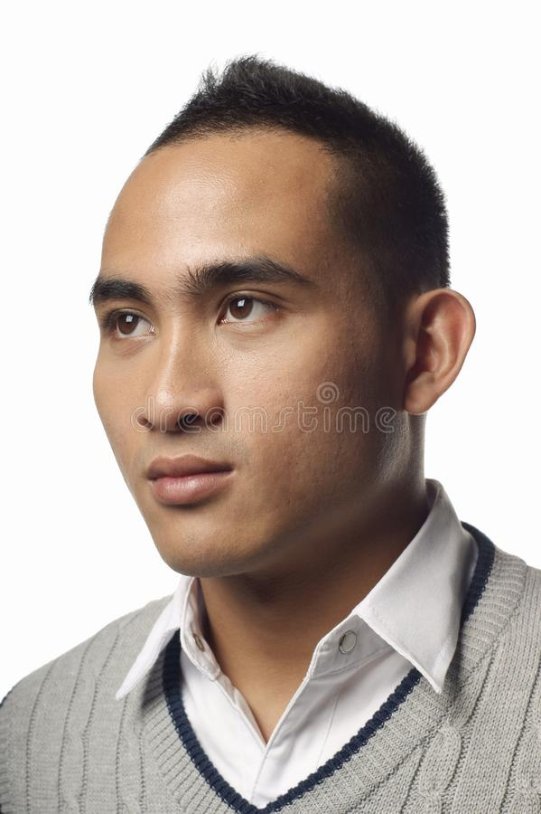 Serious Asian Malay Man Portrait Stock Image - Image Of Expressionless, Male 22090271-7798