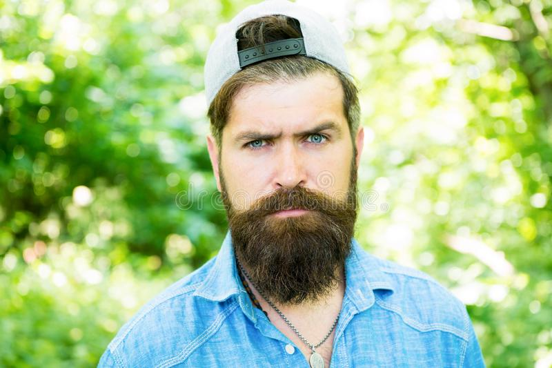 Serious bearded man. Mature hipster with beard. male facial care. brutal man with beard. barber. hispter style. Fashion. Portrait of man. Hair beard care. guy stock image
