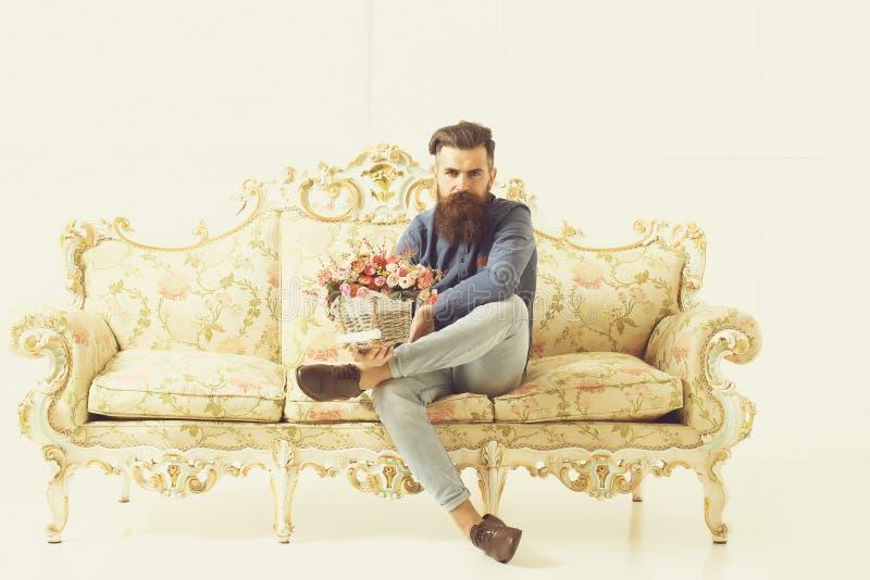Serious bearded man stock photography