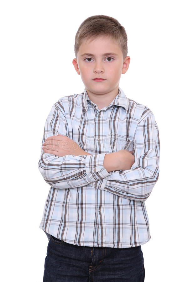 Download Serious boy stock image. Image of thoughtful, arms, concentrated - 23469299