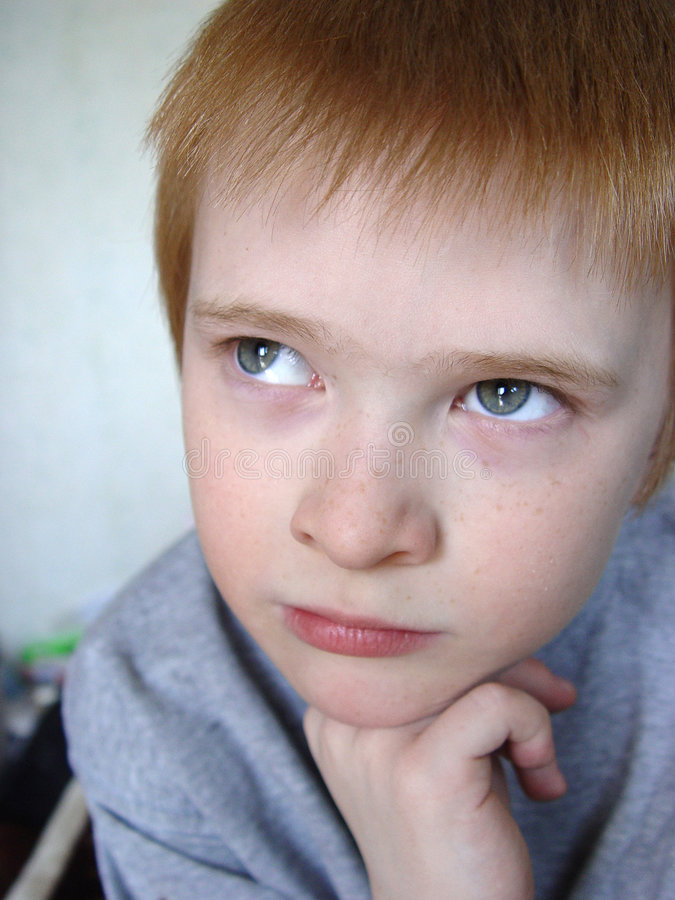 Download Serious boy stock image. Image of reflection, problem, pupil - 469809