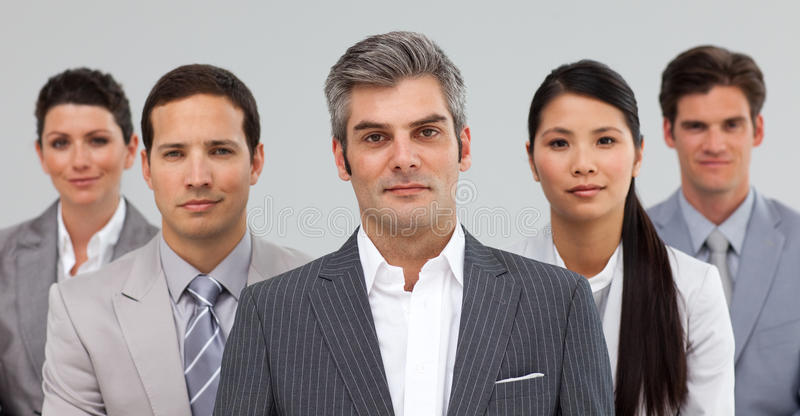 Download Serious Busines People Standing Together Stock Image - Image: 12190771