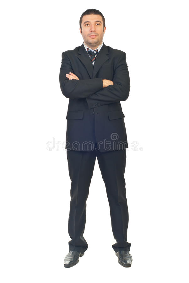 Serious Business Man With Arms Folded Royalty Free Stock Photography