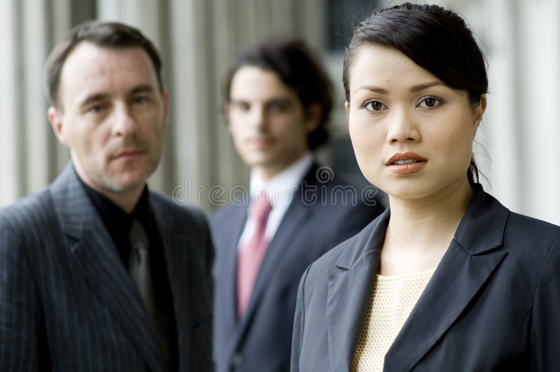 Serious Business People stock photo